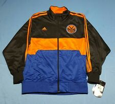 New York Knicks ADIDAS Track Jacket Zip-Up NBA Basketball Jersey NWT Youth LARGE