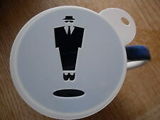 Laser cut blues brother design coffee and craft stencil