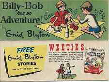 WEETIES AUSTRALIA CEREAL GIVEAWAY PROMO ENID BLYTON BILLY BOB HAS AN ADVENTURE