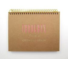 "SPIRAL SMALL NOTEPAD ~ THOUGHTS from a CROWDED BRAIN ~ 50 CARDS 6"" x 4.5"" ~ NEW"