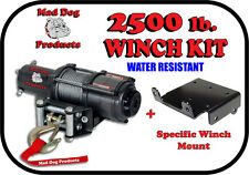 2500lb Mad Dog Winch Mount Combo Polaris 01-09 425 500 700 Full-size Ranger