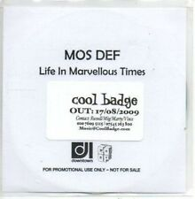 (AN997) Mos Def, Life In Marvellous Times - DJ CD