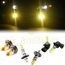 YELLOW XENON HEADLIGHT + FOG BULBS FOR Volvo S60 MODELS H7HB3H1