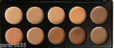 10 Colors Contour & Concealer Face Makeup Palette Cream Nature