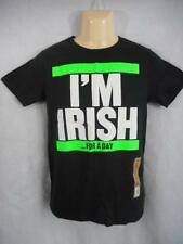 "I'M IRISH FOR A DAY Black T Shirt 34"" Chest St Patricks S Urban Pipeline NWT K54"