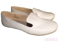 Womens Ballerina Ballet Dolly Pumps Ladies Flats Loafers White Shoes Size 3-8