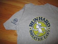 """2011 115th B.A.A.BOSTON MARATHON """"RUN HARD BREATHE EASY Revere"""" (SM) T-Shirt"""