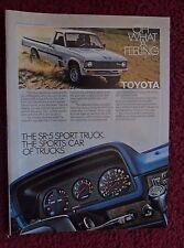 1980 Print Ad Toyota SR5 SR-5 Sport Pickup Truck ~ The Sports Car of Trucks