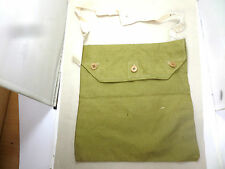 BRITISH WW2 CANVAS THREE BUTTON RESPIRATOR HAVERSACK BAG MADE BY H.& S 1940