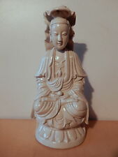 Statue sculpture chinoise céramique porcelaine blanc Chine Quanyin Kwan yin 1