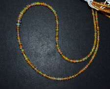 "1 Strand Ethiopian Opal Smooth Rondelle Beads 2.50 - 6 mm, 16"" , 229 FREE SHIP"