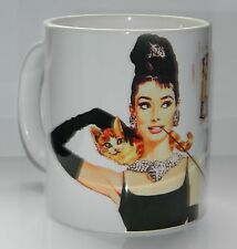 AUDREY HEPBURN / BREAKFAST AT TIFFANY'S : RETRO ARTWORK. TOP QUALITY 11oz MUG