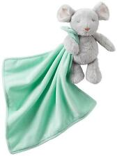 Carter's Plush Mouse  Rattle Holding Mint Green Security Blanket Lovey Baby Gift