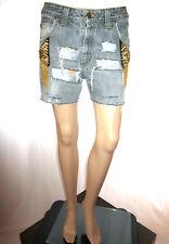 LEE vtg détresse short femme jeans main personnalisé taille haute pantalons sexy sz 31 AF44