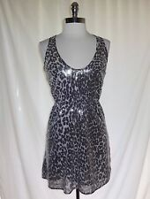 RODARTE For TARGET Size M Dress Black Grey Animal Print Sequins