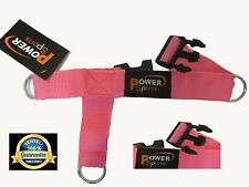 'PINK' Female  3-Ring Foot Strap Cable Gym Machine Attachment sold Single, Foot