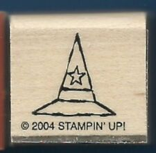 WITCH HAT STAR Halloween Costume NEW Stampin' Up! Wood 2004 Craft RUBBER STAMP
