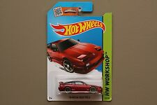 2015 Hot Wheels '96 Nissan 180SX Type X Metalflake Dark Red