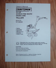 CRAFTSMAN 917.292394 TILLER OWNERS MANUAL WITH ILLUSTRATED PARTS LIST