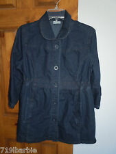 Motherhood Maternity women's 3/4 sleeve button-down denim shirt jacket size M