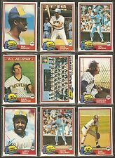 1981 1982 1983 Topps Milwaukee Brewers Team Lot 32 dif Paul Molitor Cecil Cooper