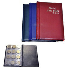 120 Slots Coin Penny Collecting Holder Pockets Storage Folder Album Book Sleeves