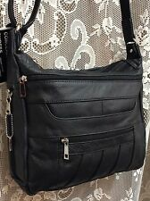 Leather Handbag Locking Conceal Carry CCW Holster Gun Purse Cross body BLACK R L