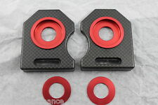 Ducati racing 851 888 Monster 900 PASO907 chain adjuster carbon plate kit red