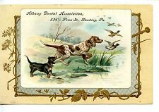 False Teeth-Albany Dental Assn-Hunting-Reading-Victorian Advertising Trade Card