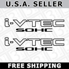2x Black i-VTEC SOHC Vinyl Decal Stickers Emblem Honda Acura ivtec