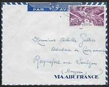 Afrique Occidentale Francaise covers Airmail cover to Roquefort