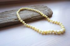 Natural Baltic Amber White/Honey color beads Necklace 17 gr.