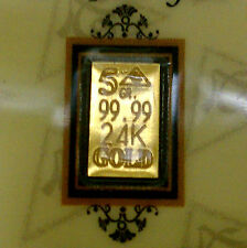 (10 Pack) of    ACB 5GRAIN 24K SOLID GOLD BULLION MINTED BAR 99.99 FINE W/COA