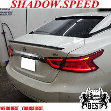 Painted D Style Rear Trunk Spoiler For Nissan Maxima A36 2015~16 Sedan S SV SL ✪