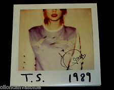 Taylor Swift - Autographed 1989 vinyl 2-lp hand Signed Record RARE OFFICIAL pop