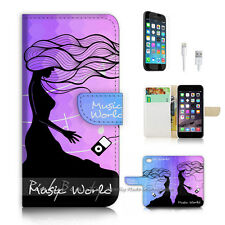 iPhone 7 (4.7') Flip Wallet Case Cover P2721 Abstract Lady
