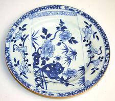 ASSIETTE PORCELAINE BLEUE. QUIANLONG. CHINE. XVIII-XIX.