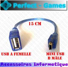 Câble adaptateur connecteur convertisseur USB A femelle vers mini USB B mâle