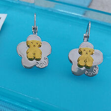Womens Ladies Junior Fashion Jewelrry 1.5 cm Metal Bear Hoop Earrings #800131