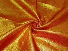 Orange Red Gold Flower Metallic Brocade Bling Fabric Waistcoat Chair Sashes