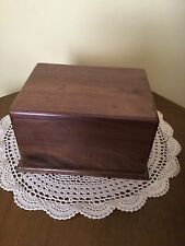 Black Walnut wood Cremation Urn Adult
