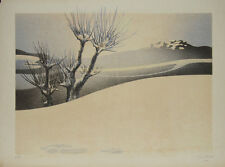 """""""La colline au village"""" Lithographie signée Daniel SCIORA"""