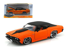 JADA 1:24 BIG TIME MUSCLE 1969 CHEVROLET CHEVELLE SS DIECAST CAR 90056 ORANGE