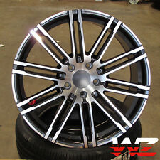 "21"" Machined Gunmetal Wheels Rims Fits Porsche Cayenne Audi Q7 VW Touareg"