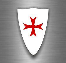Sticker car biker maltese shield airsoft decal crusader cross templar knights B