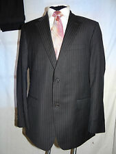 HUGO BOSS (COOPER/RENO) DESIGNER BROWN/BLACK STRIPED BUSINESS SUIT UK 44 EU 54