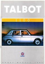Talbot Simca 1100 1980-81 French Market Sales Brochure LS GLS Break