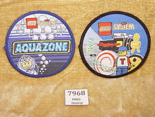 LEGO Gear: 2x UNUSED Sew On Patches AQUAZONE & TIME CRUISERS Patch15 Patch07