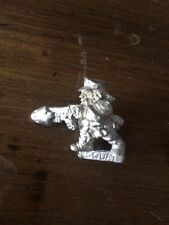 Rogue Trader Squat With Plasma Gun   Warhammer 40k Metal Squats  OOP
