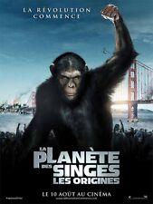 Affiche 40x60cm La Planète Des Singes : Les Origines (2011) James Franco NEUVE